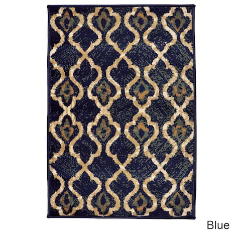 Superior Designer Brighton Blue Area Rug - 2' x 3'
