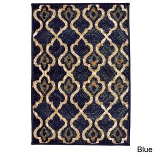 Miranda Haus Designer Brighton Blue Area Rug - 2' x 3'