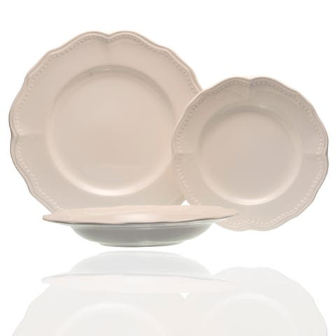Red Vanilla Classic White 18Pc Dinner Set