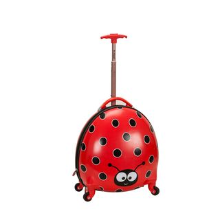 Travel Companions Ladybug Kids Spinner Upright Suitcase