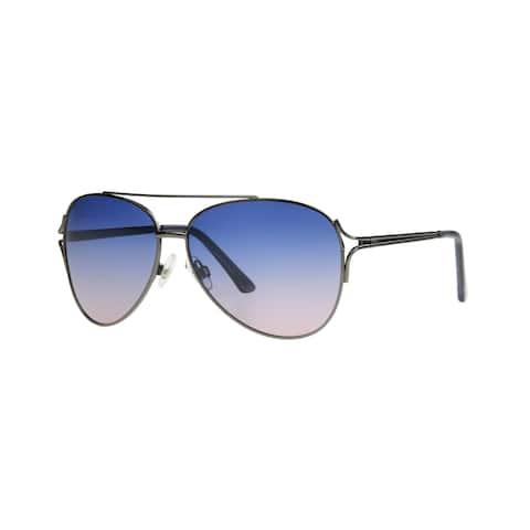 Angel Eyewear Byefelicia Womens Gunmetal Blue to Pint Gradient Polarized Lens Sunglasses - Grey/Silver - Medium