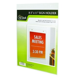 """8.5"""" x 11"""" Vertical Wall Mount Sign Holder, Clear"""