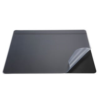 "19"" x 24"" Krystal-Lift Non-Glare Desk Pad Organizer, Black/Satin"