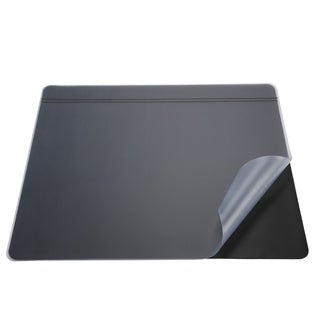 "20"" x 31"" Krystal-Lift Non-Glare Desk Pad Organizer, Black/Satin"