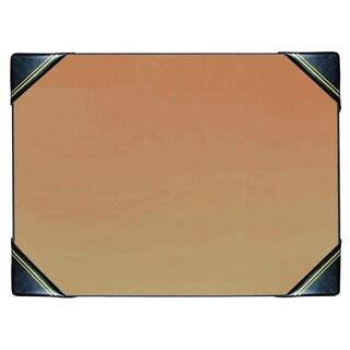 """19"""" x 24"""" Classic Blotter Desk Pad w/ Corners, Black w/ Gold"""