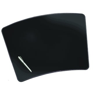 "13"" x 19"" Sagamore Executive Designer Conference Table & Lap Desk Pad, Black / White Stitching"