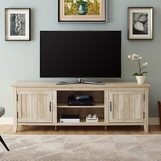 "The Gray Barn Wind Gap 70"" TV Console with Side Beadboard Doors - 70 x 16 x 24h"