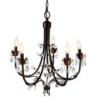 Antique Black Beaded Chandelier.