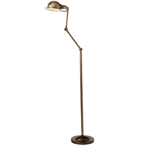 Brushed Champagne Rounded Shade Floor Lamp.