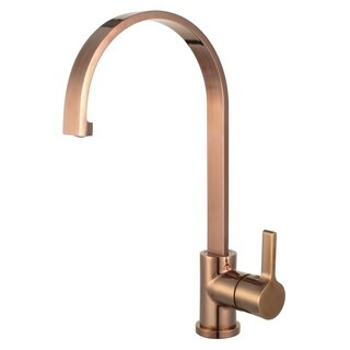"Coral 16"" Single Handle Standard Kitchen Faucet with Swivel Spout - Rose Gold"