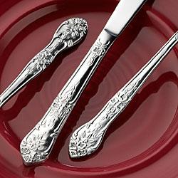 Rogers Co. Rose Elegance Stainless Steel 40-piece Flatware Set