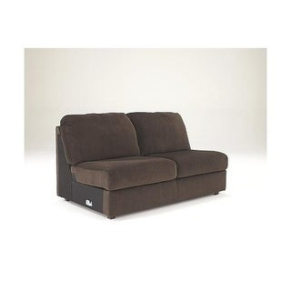 Signature Design by Ashley Jessa Place Chocolate Microfiber Contemporary Armless Loveseat
