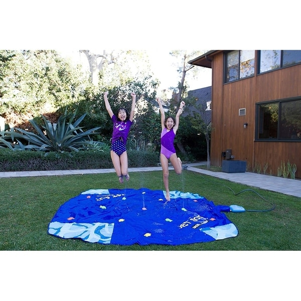 10ft x 10ft Jet Mat with Waterpark Jumping Jet Fountain Control System - 10' x 10'