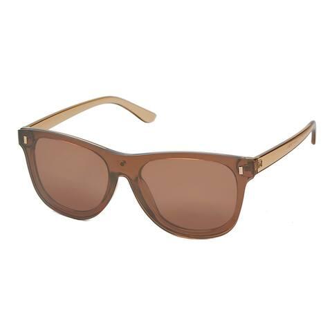 Polarized Rimless Wayfare One Piece Mirror Reflective Sunglasses P4167