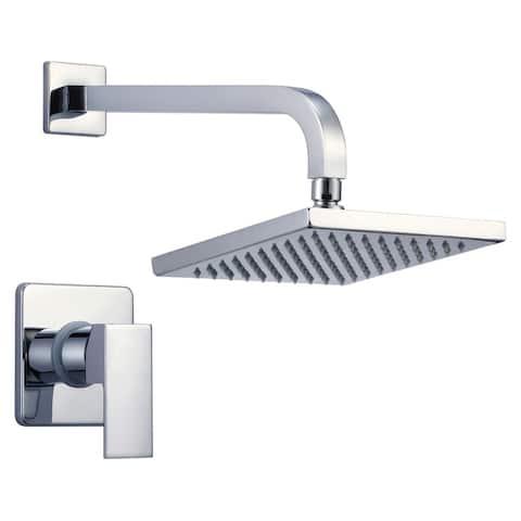 Narmada Pressure Balancing Rainfall Square Shower head w/shower handle