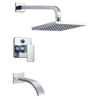Narmada 9184 2.0 GPM Single Function Shower Head with Faucet - Polished Chrome