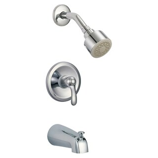 Nile 2.0 GPM Single Function Shower Head with Faucet - Polished Chrome