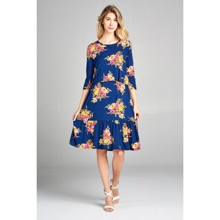 Spicy Mix Maternity Nursing Floral Tiered Midi Dress