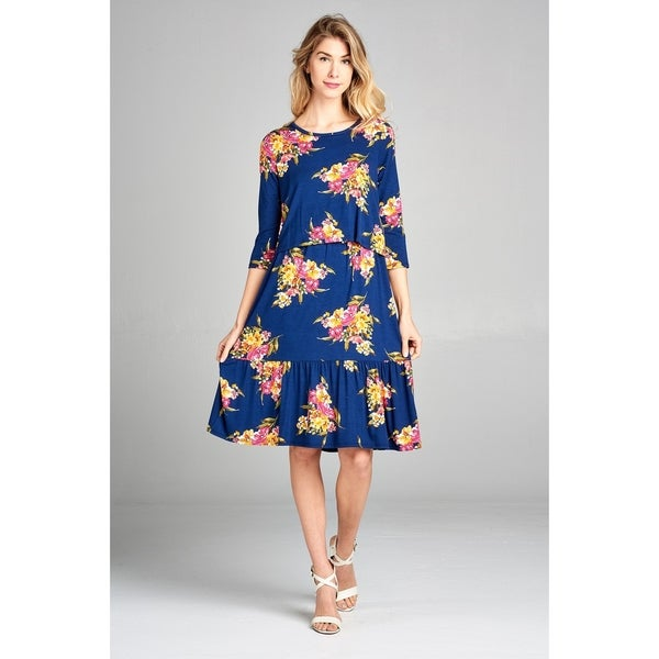 Shop Spicy Mix Maternity Nursing Floral Tiered Midi Dress Free