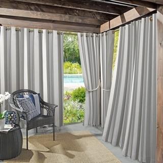 exterior window treatments outdoor sun zero valencia cabana stripe indooroutdoor curtain panel buy outdoor window treatments online at overstockcom our best