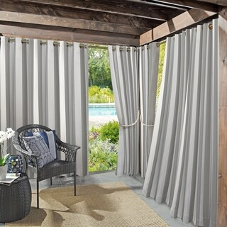 Sun Zero Valencia Cabana Stripe Indoor/Outdoor Curtain Panel (3 options available)