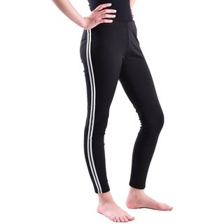 Girls sport legging with side stripes,