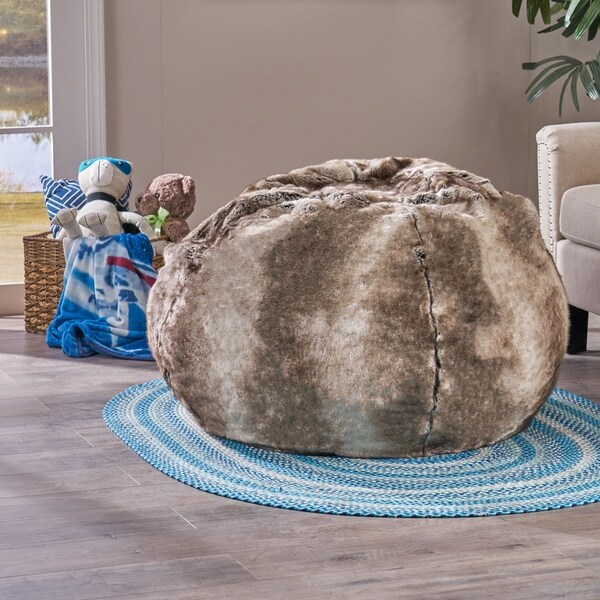 3d44d9c382 Monroe Faux Fur 2.75-foot Lounge Beanbag Chair by Christopher Knight Home