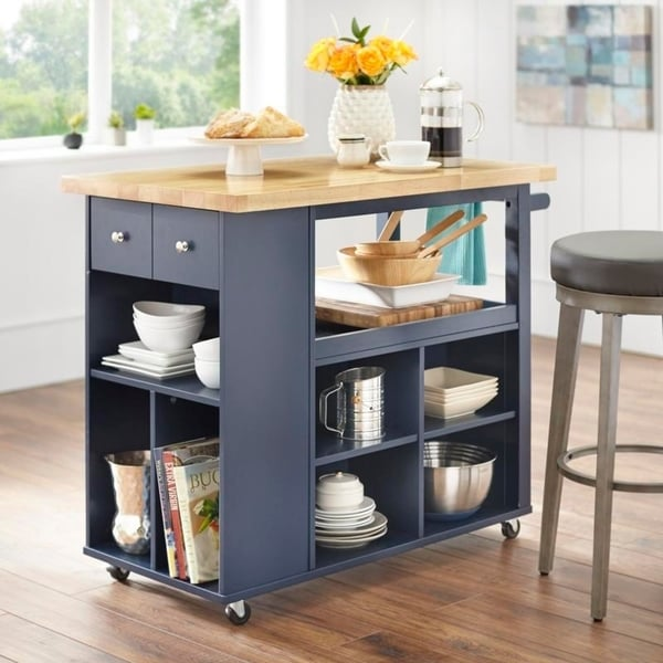 Shop angelo:HOME Boston Kitchen Island/Cart - On Sale - Free ...