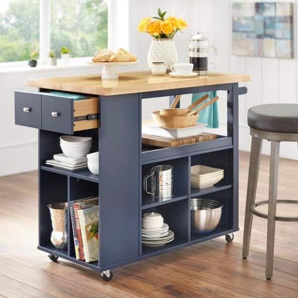 Shop angelo:HOME Boston Kitchen Island/Cart - On Sale - Free ...