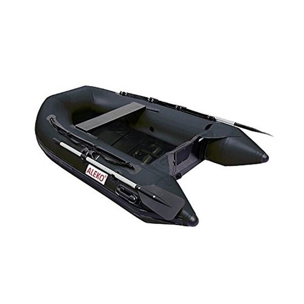 ALEKO 8.4 ft Inflatable Fishing Raft 3 prs Boat with Slide Slat Deck