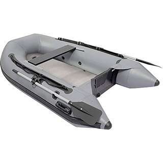 ALEKO 8.4 ft Inflatable Raft Fishing 3 Person Boat with Air Floor Deck