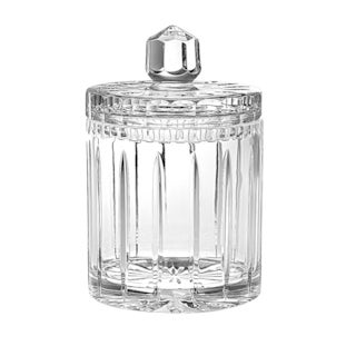 """Majestic Gifts European Handcut Crystal Cookie Jar / Candy Box, 8""""H, 34 Oz."""