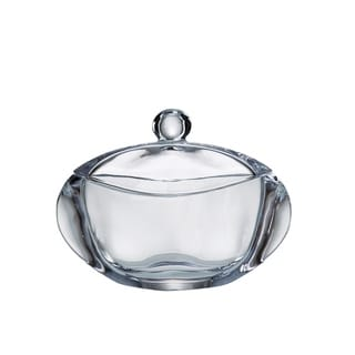 "Majestic Gifts European Crystalline Glass Oval Covered Jewelry/ Candy Box, 7"" Long"