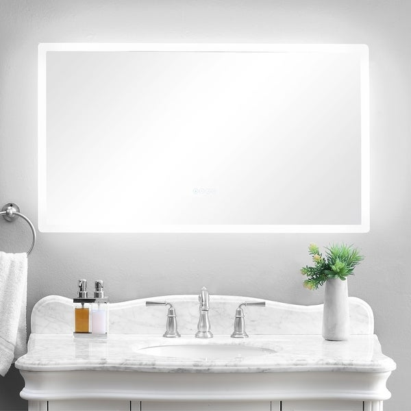 Superb Shop Smartled Illuminated Fog Free Bathroom Mirror With Download Free Architecture Designs Sospemadebymaigaardcom
