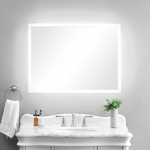 """smartLED Illuminated Fog-Free Bathroom Mirror with Built-In Bluetooth Speakers and Dimmer - 36"""" x 27"""""""