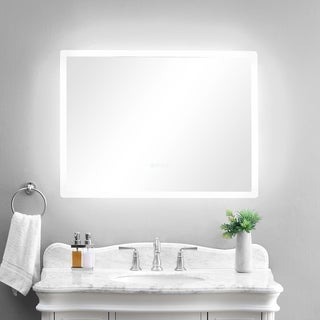 "smartLED Illuminated Fog-Free Bathroom Mirror with Built-In Bluetooth Speakers and Dimmer - 36"" x 27"""