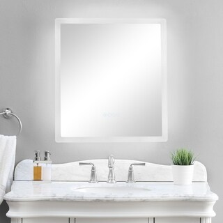 "smartLED Illuminated Fog-Free Bathroom Mirror with Built-In Bluetooth Speakers and Dimmer - 24"" x 27"""