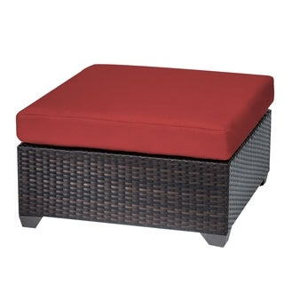 Riviera OH0262 Outdoor Patio Cushioned Wicker Ottoman