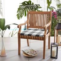 Humble + Haute Black Buffalo Plaid Indoor/ Outdoor Chair Cushion, Set of 2