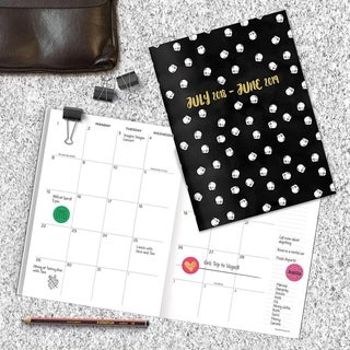 July 2018 - June 2019 Dots Monthly Planner