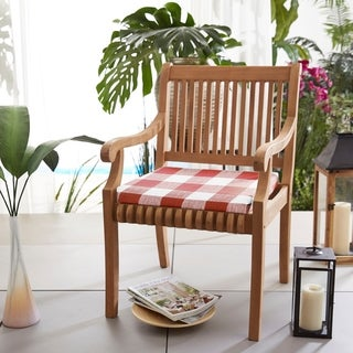 Humble + Haute Red Buffalo Plaid Indoor/ Outdoor Chair Cushion, Set of 2 (2 options available)