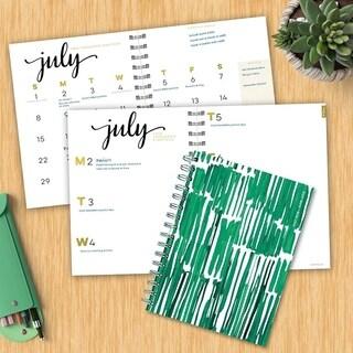 July 2018 - June 2019 Greenery Medium Weekly Monthly Planner