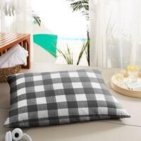 Humble + Haute Black Buffalo Plaid Indoor/ Outdoor Floor Pillow - 35 in w x 26 in d