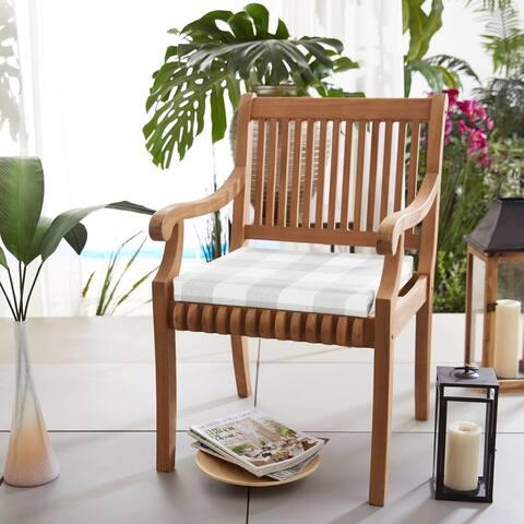 Humble + Haute Grey Buffalo Plaid Indoor/ Outdoor Chair Cushion, Set of 2