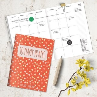 July 2018 - June 2019 So Many Plans Monthly Planner