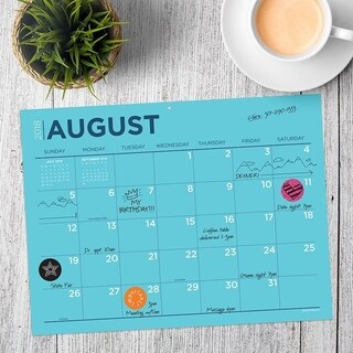 July 2018 - June 2019 Color Collection Mini Desk Pad Calendar