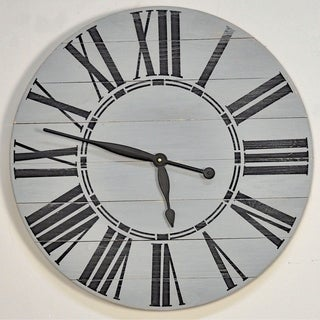 Link to Oversized Gray Farmhouse Wall Clock Similar Items in Decorative Accessories