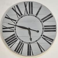 Oversized Gray Farmhouse Wall Clock