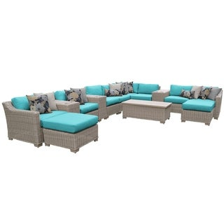 Canyon OH0345 14-Piece Outdoor Patio Wicker Lounge Set