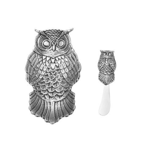 Towle Living Owl Dish And Spreader Set